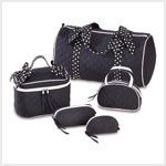 Polka Dot Travel Bag Set
