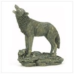 Antique Bronze Finish Wolf