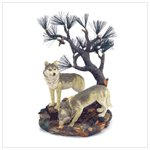Wolves with Pine Tree Figure