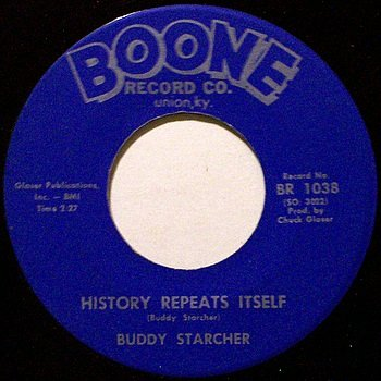 Starcher, Buddy - History Repeats Itself / Sniper's Hill - Vinyl 45 Record on Boone - Country