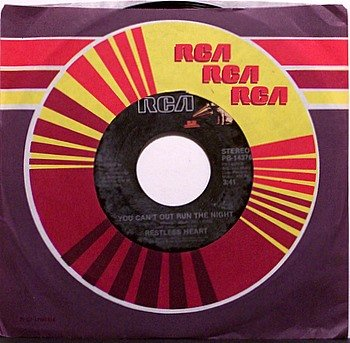 Restless Heart - That Rock Won't Roll / You Can't Outrun The Night - Vinyl 45 Record - Country