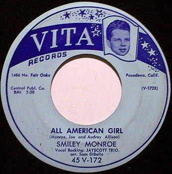 Monroe, Smiley - All American Girl / I've Got Somebody - Vinyl 45 Record on Vita - Country