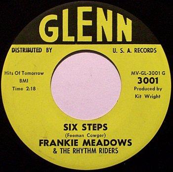 Meadows, Frankie & The Rhythm Riders - Six Steps / Heart - Vinyl 45 Record on Glenn - Country