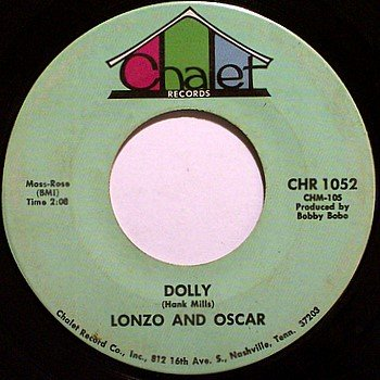 Lonzo and Oscar - Dolly / Hertz Rent A Chick - Vinyl LP Record - Song about Dolly Parton - Country