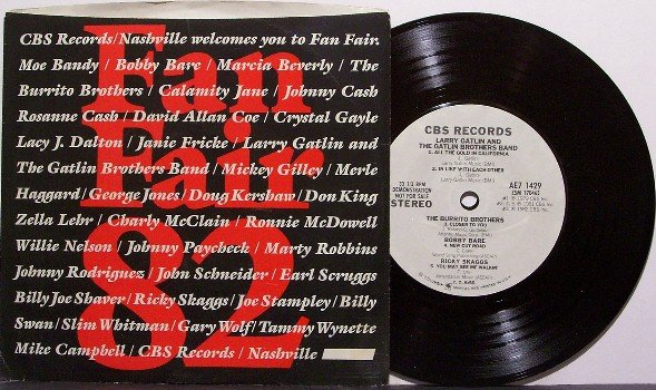 """Fan Fair 1982 Promo Only EP - Vinyl 7"""" Record - Burrito Brothers, Merle Haggard etc - Country"""