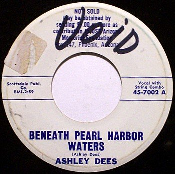 Dees, Ashley - Beneath Pearl Harbor Waters / Missing In Action - Vinyl 45 Record - Promo - Country