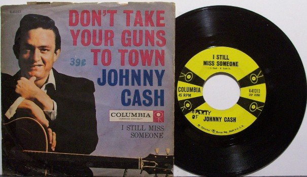 Cash, Johnny - Don't Take Your Guns To Town - Vinyl 45 Record + Picture Sleeve - Country