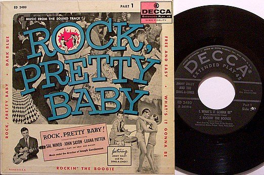 """Rock Pretty Baby - Jimmy Daley & The Ding-A-Lings - Vinyl 7"""" EP Record + Cover - Soundtrack"""