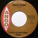 Lazar, Sam Trio - Space Flight / Dig A Little Deeper - Vinyl 45 Record on Argo - Jazz