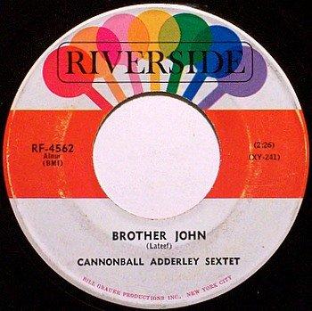 Adderley, Cannonball Sextet - Brother John / Tengo Tango - Vinyl 45 Record on Riverside - Jazz