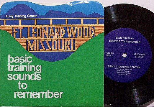 """Army Basic Training Sounds - Vinyl 7"""" Record + Picture Sleeve - Ft. Leonard Wood MO - Military"""
