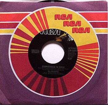 Alabama - Christmas In Dixie - Vinyl 45 Record on RCA