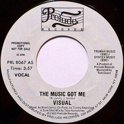 Visual - The Music Got Me - Vinyl 45 Record - White Label Promo - DJ Dance Soul