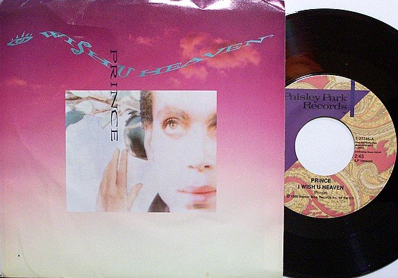 Prince - I Wish You Heaven / Camille Scarlet - Vinyl 45 Record + Picture Sleeve - R&B Soul Funk