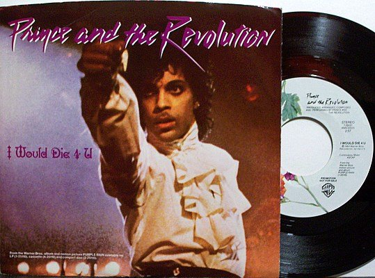 Prince - I Would Die 4 U / Another Lonely Christmas - Vinyl 45 Record + Picture Sleeve - R&B Funk
