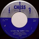 Moonglows, The - When I'm With You / See Saw - Vinyl 45 Record on Chess - R&B Soul