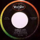 Chandler, Gene - Duke Of Earl / Kissin' In The Kitchen - Vinyl 45 Record on VeeJay - R&B Soul