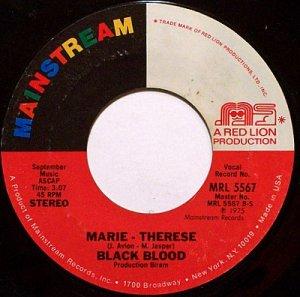 Black Blood - Marie Therese / A.I.E. (A Mwana) - Vinyl 45 Record - R&B Soul Latin Funk