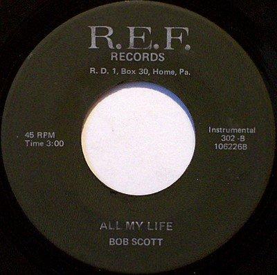 Scott, Bob - Fightin' Side Of Me / All My Life - Vinyl 45 Record on R.E.F. - Country