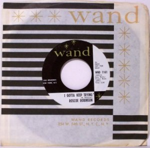 Robinson, Roscoe - I Gotta Keep Trying / Just A Little Bit - Vinyl 45 Record - Promo - R&B Soul