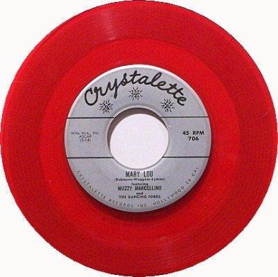 Mr. Ford & Mr. Goon Bones - Ain't She Sweet - Red Colored Vinyl - 45 Record - Weird Odd Unusual