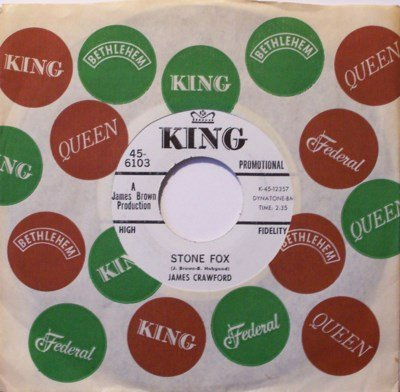 Crawford, James - Stone Fox / Hold It - Vinyl 45 Record on King - Promo - R&B Soul Funk
