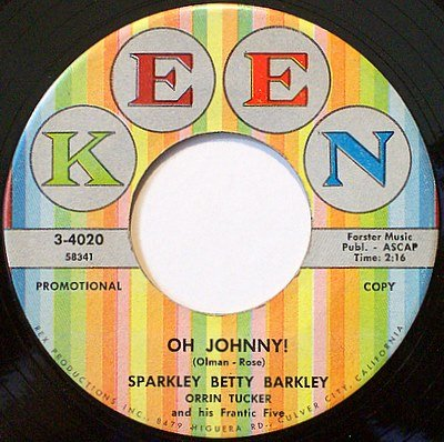 Barkley, Sparkley Betty - Oh Johnny / My Resistance Is Low - Vinyl 45 Record - Promo - Pop Rock