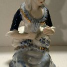"""Vintage Porcelain Royal Lady Sitting In A Chair 7 1/2"""" Tall"""