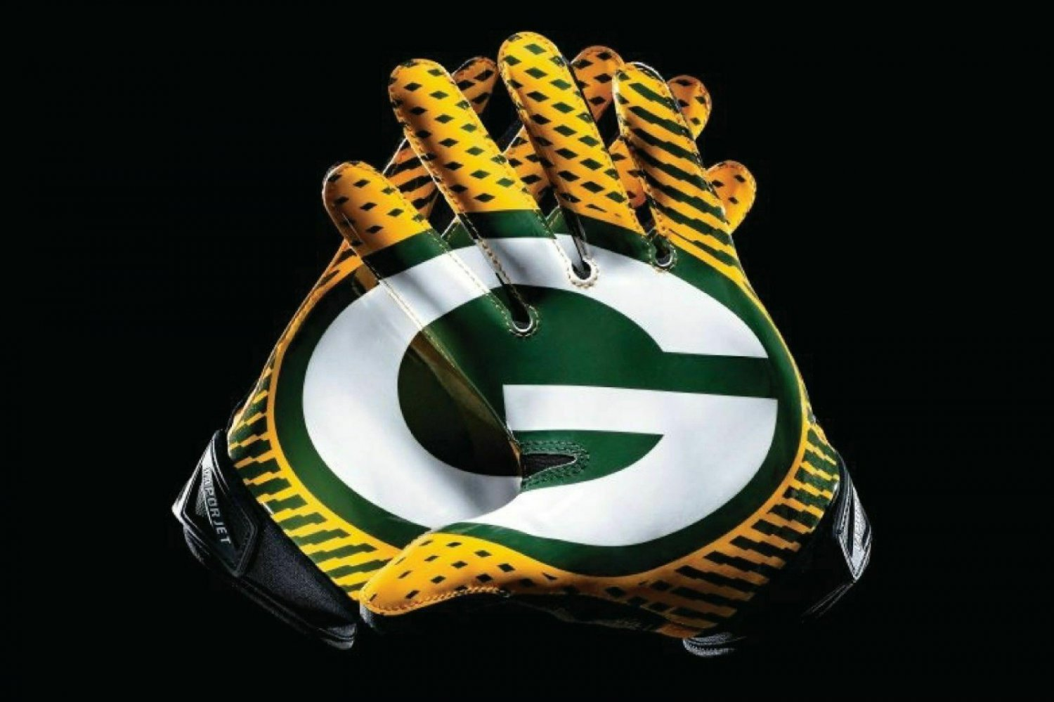 """Greenbay Packers Gloves NFL Color Vinyl Decal Sticker_ Choose size 3 """" -36"""" PVG"""