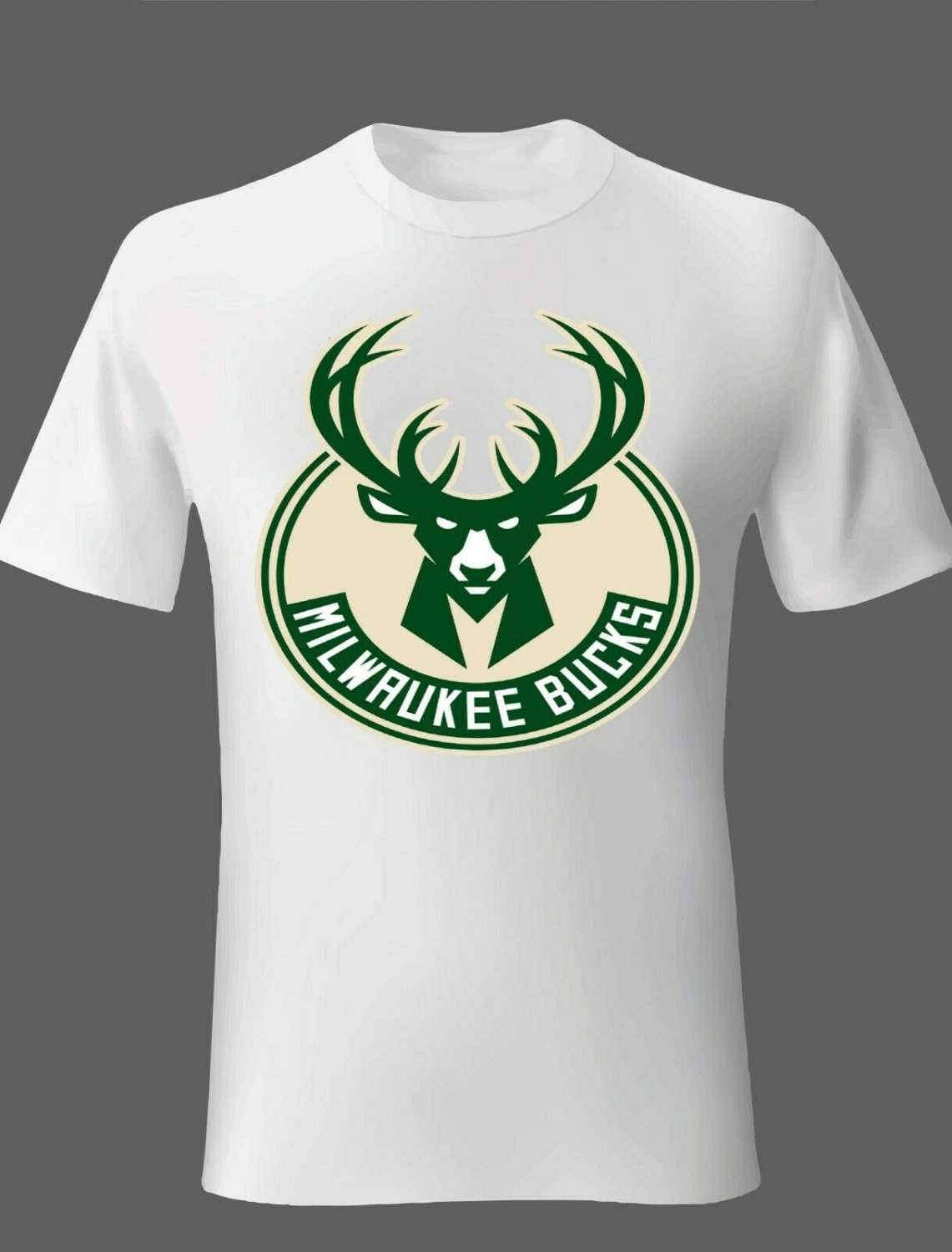 Milwaukee Bucks T Shirts White or you choose your color