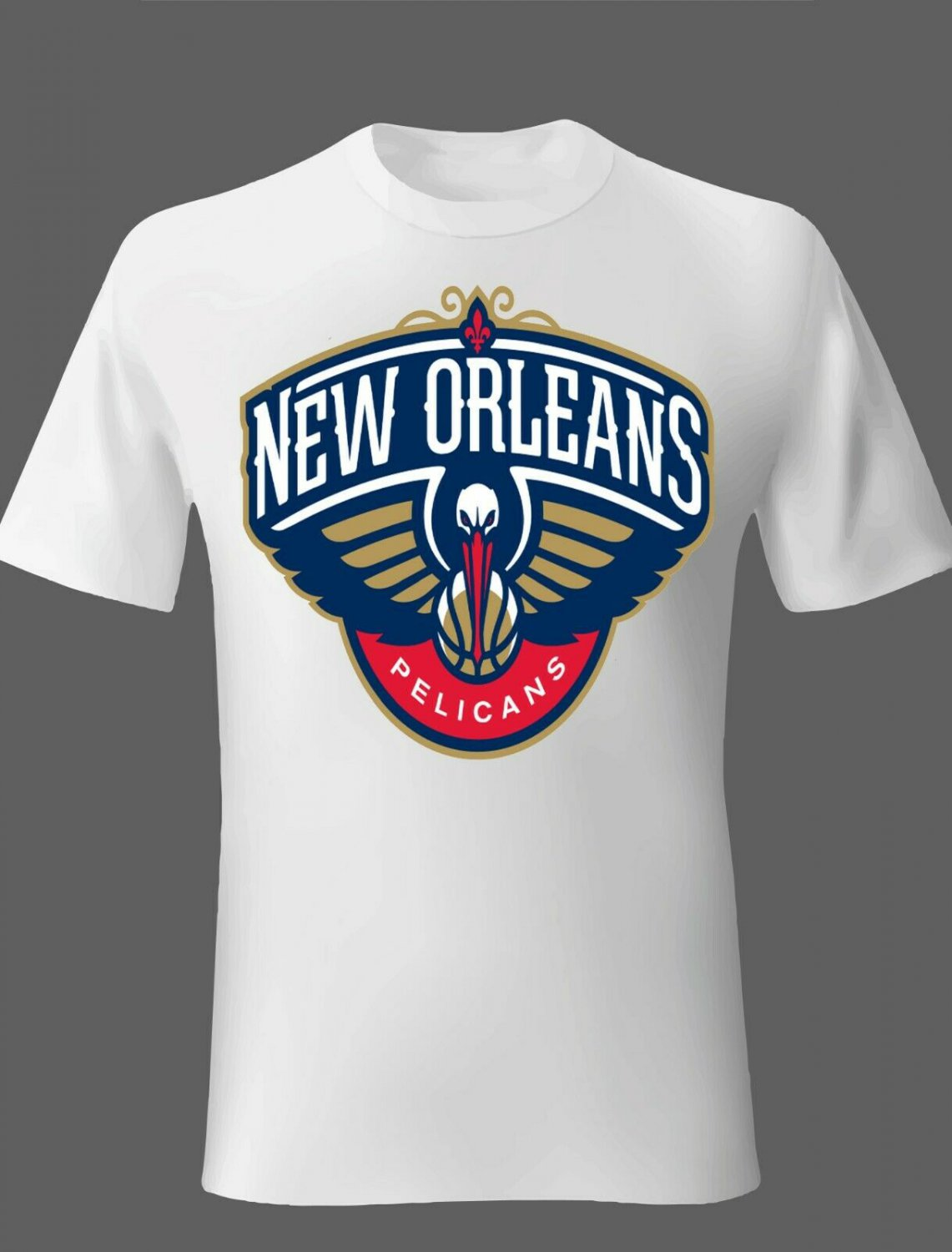 New Orleans Pelicans T Shirts White or you choose your color