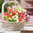 15 heads/bouquet small bud roses bract artificial flower silk rose DIY  decor flowers rose gift