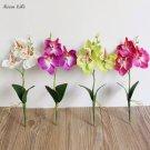 Wedding Decoration Artificial Flowers Triple Head Artificial Butterfly Orchid Silk Flower  Wedding