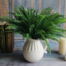 Artificial Fern Leaves Plastic Artificial Silk Plants Green Fake Plants For Home Wedding Decoration