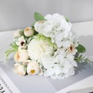 7 handmade heads, hydrangea flowers and artificial peony artificial bouquet, decor
