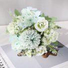 7 handmade heads, hydrangea flowers and artificial peony artificial bouquet, decor