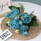 Artificial Peony 5 Large Peony Heads / 4 Buds Silk Peony Bouquet Wedding Decoration, Home Decoration