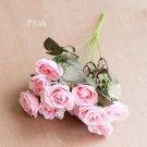 12 heads rose flowers vivid mini silk artificial flowers high quality decorative flowers