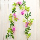 Wisteria Artificial Flowers Vine Garland Wedding Arch Decoration Fake Plants Foliage Rattan Ivy Wall