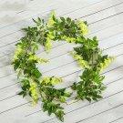Wisteria Artificial Flowers Vine Garland Wedding Arch Decoration Fake Plants Foliage Rattan Ivy Wall