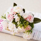 13 pcs Silk Roses Wedding Christmas Decorations for Home Artificial Flowers Scrapbooking