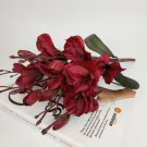 5 Fork Magnolia Bouquet Artificial Silk Flowers Wedding Christmas Party Home Decoration Fake Flower