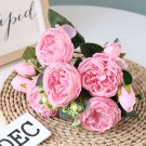 Bouquet Peonies Artificial Flowers Silk Peonies Bouquet  Flowers Wedding Home Decoration Fake Peony