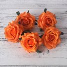 5 Pcs Artificial Rose Silk Fake Artificial Heads High Quality DIY Wedding Home Decoration Scrapbook