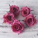 5 Pcs Artificial Rose Silk Fake Artificial Heads High Quality DIY Wedding Home Decoration Scrapbook