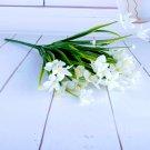 1Bunch Artificial Plastic Orchid Plant Fake Silk Flower Wedding Flower Arrangement Home Decoration