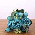 30cm silk bouquet peony artificial flowers 5 big heads 4 small buds home decoration fake flowers