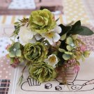 Peony Decoration Vintage Silk Artificial Flowers Small Rose Wedding Fake Flowers Home Decor Bouquet