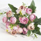 1 Bouquet High Quality Artificial Flowers Rose Small Bud Fake Flower Silk
