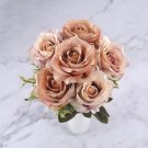 6 heads rose artificial flowers high quality silk for decoration artificial flowers for home decor